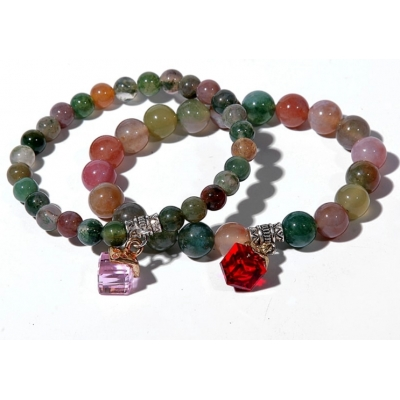SUNHOO wholesale popular Aquatic agate bead bracelet